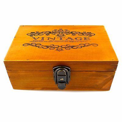 Vintage hölzerne Aufbewahrungsbox Schatztruhe mit Schloss und Schlüssel für Schm