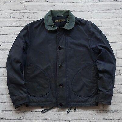 FSC Freemans Sporting Club Wax Navy N-1 Deck Jacket Size S