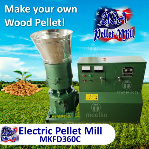 Electric Pellet Mill For Wood - MKFD360C - USA