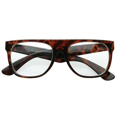 Tortoise Flat Top - Clear Glasses, Frogskins, Knockaround, Blenders, (Skrillex Sunglasses)