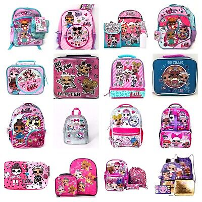 Character Lunch - LOL Surprise Backpack or 5 PC Set Or Lunch Box Or Pencil Case Kids School Bag