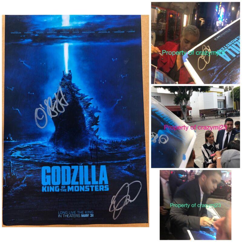 3 Signed Godzilla King of the Monsters Vera Farmiga O'Shea Jackson Autograph