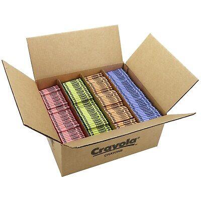 Crayola Crayons 4 Color Bulk Pack, 3000 Count, 750 each Color ( 52-8902 ) NIB