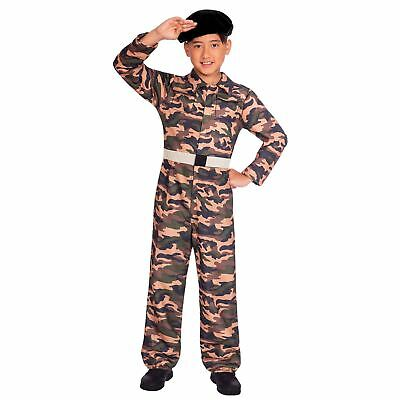 Army Uniform Boys Fancy Dress Costume Special Force Army Camo Soldier Marine Kid - Marine Costume For Boys