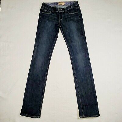 Paige Women's Jeans Blue Heights Size 26 Dark Wash Straight Fit