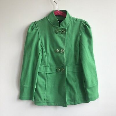 GAP KIDS Jacket 5 Toddler Girl Green Gold Military Blazer Spring Fall NWT - Kids Green Blazer