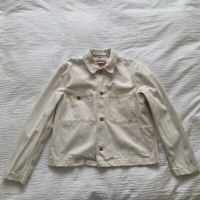 Acne Studios Blå Konst Unre Twill Ecru Jacket Size 46 (Small)