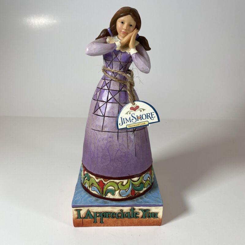 "Jim Shore Heartwood Creek ""I Appreciate You"" Figurine #4007241"