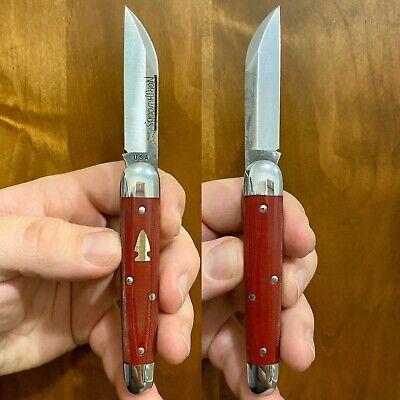Bear Lake Red Linen Micarta GEC Northwoods Knives USA Great Eastern Cutlery