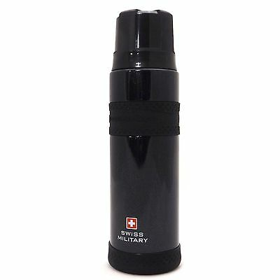 SWISS MILITARY Vacuum Flask Stainless Steel Black Thermos Bottle Insulated 500ml