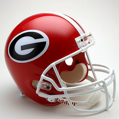GEORGIA BULLDOGS NCAA Riddell FULL SIZE Deluxe Replica Football Helmet Bulldogs Deluxe Replica Helmet