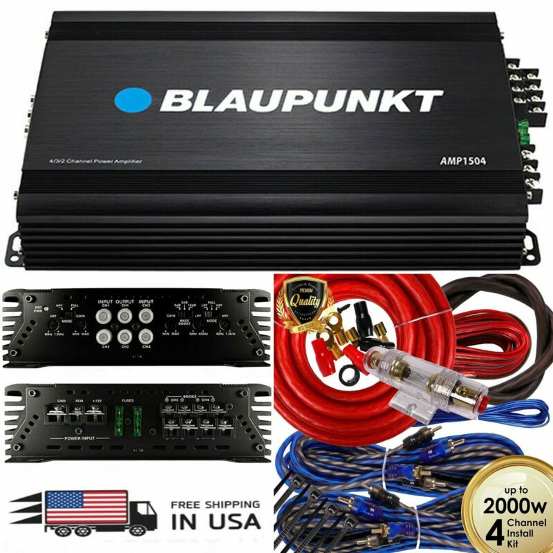 Blaupunkt AMP1504 Car Audio 4-Channel Amplifier 1500 Watts + 4 Channel 2000W Red