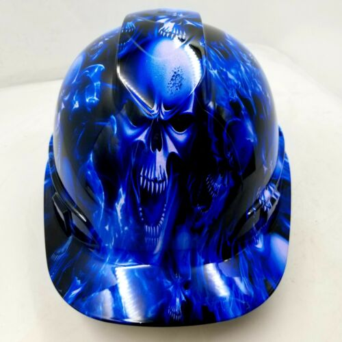 Hard Hat CAP STYLE custom hydro dipped , OSHA approved ICE SKULL LIMITED EDITION
