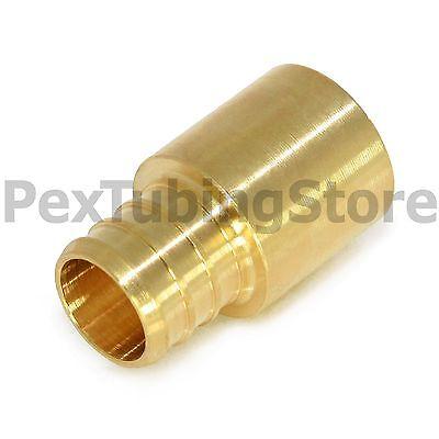 100 12 Pex X 12 Male Sweat Adapters - Brass Crimp Fittings
