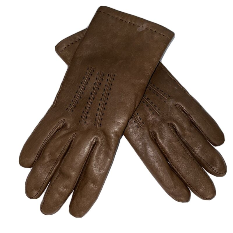 Vintage CHRISTIAN DIOR Women's Leather Dress Gloves SIZE S