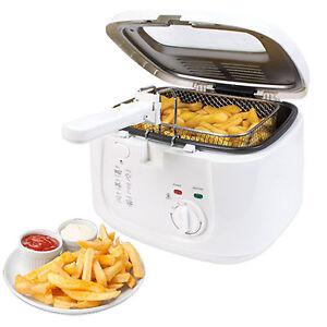 2.5L Electric Deep Fat Chip Fryer Non Stick Pan & Safe Basket Handle With Window