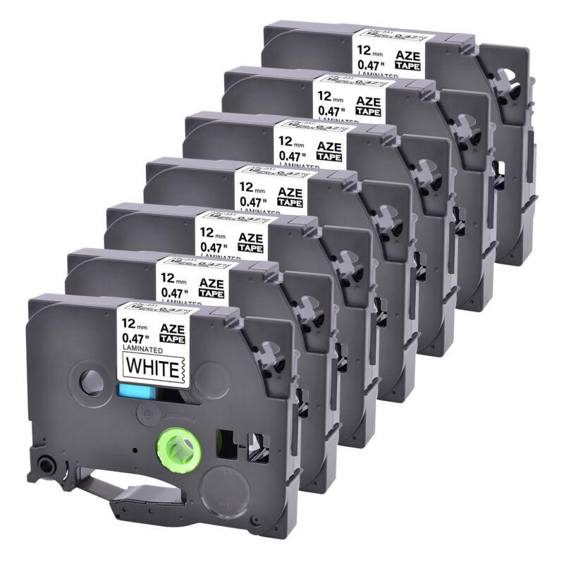 7PK Black on White Label Maker Tape Compatible Brother PT-9200DX TZ-231 TZe-231