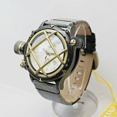 Invicta 17472 New Swiss Russian Automatic 52mm Mother of Pearl Face Stainless