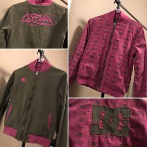 Reversible army green/pink DC jacket