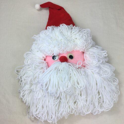 Vintage Handmade Santa Face Wall Decor Bleach Bottle Christmas Head Holiday