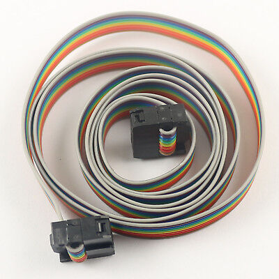 1pcs 2.54mm Pitch 2x4 Pin 8 Pin 8 Wire Idc Flat Ribbon Cable Length 1 Meter