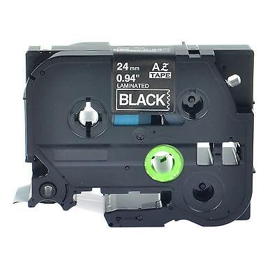 1pk White On Black Tape For Brother P-touch Ptd600 24mm Label Maker Tz355 Tze355