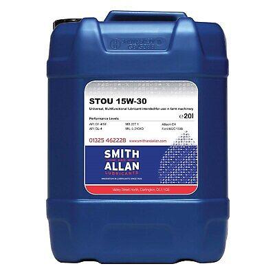 Super Universal Tractor Oil 15w-30 STOU SUTO Farm Oil 40 Litres (2 x 20L)