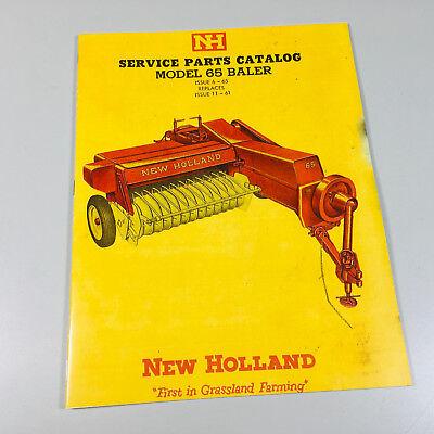New Holland 65 Baler Parts Manual Catalog