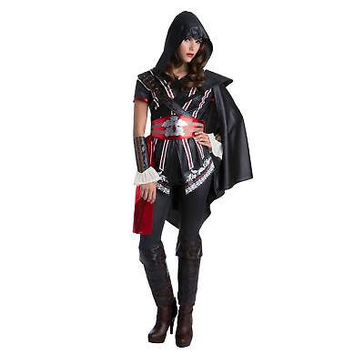 Palamon Women's Assassin's Creed Sassy Ezio Classic Costume - Black - Female Assassin Creed Costume