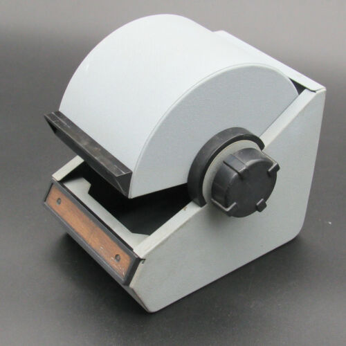 Rolodex Model 1753 Grey, Vintage Covered Rotary File, Roll Top Metal Cabinet