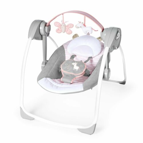 Ingenuity Comfort-2-Go Portable Compact Swing Flora The Unicorn