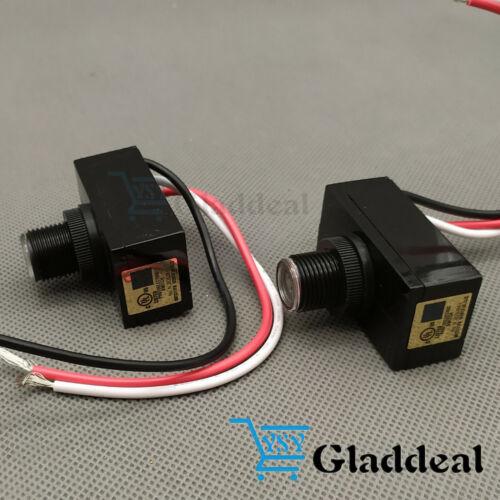 Outdoor Electric Resistor Photocell Light Control Sensor Switch JL103A 2PCS USA