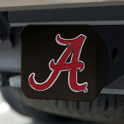 Alabama Crimson Tide Heavy Duty 3-D Color Emblem Black Metal Hitch Cover](Alabama Crimson)