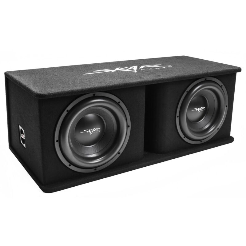 "NEW SKAR AUDIO SDR-2X12D4 DUAL 12"" 2400 WATT LOADED PORTED SUBWOOFER ENCLOSURE"