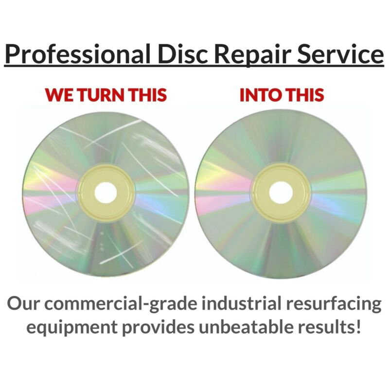 10 Professional Mail-In Disc Repair Service Scratch Removal Restore Video Games