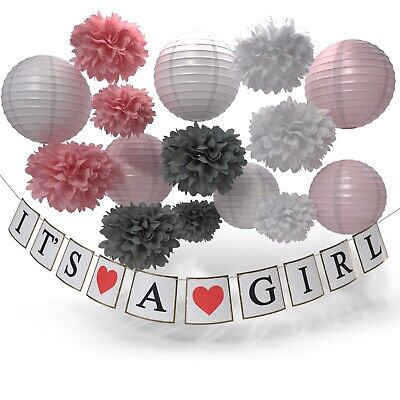 Baby Girl Decorations Pink Baby Shower It's A Girl Decorations New Free Shipping](Baby Girl Decorations)