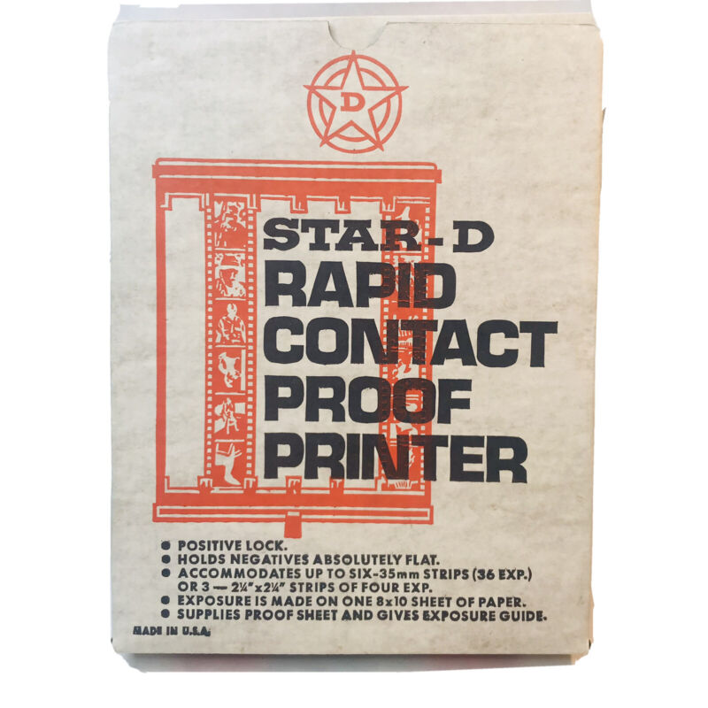 Star-D Rapid Contact Proof Printer Vintage Film Photography