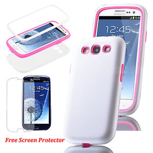 New Dual Layer Hybrid Hard Case Cover for Samsung Galaxy S3 III i9300 (5 Colors)