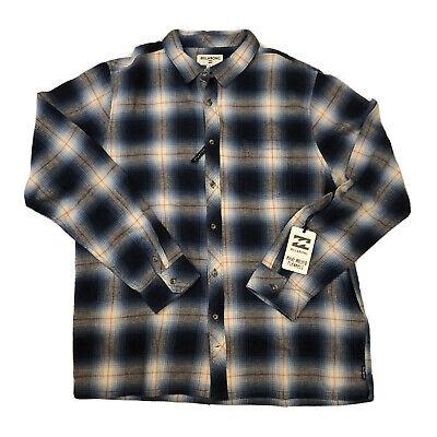 Billabong Coastline Flannel Shirt Mens Size XL Blue
