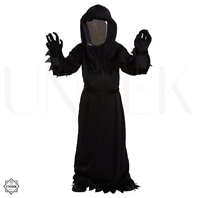 Kids Grim Reaper Halloween Costume + Mirror Mask Dementor Demogorgon Fancy Dress](Mirror Mask Halloween Costume)