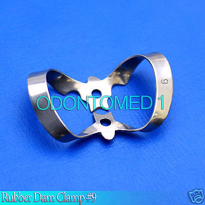 6 Endodontic Rubber Dam Clamp 9 Surgical Dental Instruments