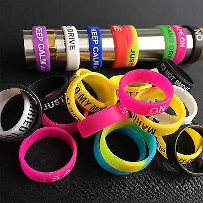 10 pcs Assorted Superhero Vape Band Silicone Rings Color Protection Rubber Ring