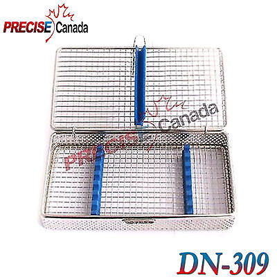Pack Of 2 Sterilization Cassette Stainless Steel Mesh Tray Dental Surgica Dn-309