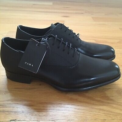 NWT NEW Zara Man Brand Black Pointed Dress Shoes Size Mens 40 / USA 7
