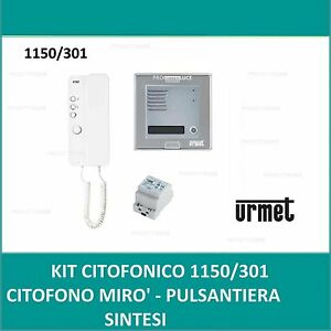 Kit monofamiliare pulsantiera sinthesi citofono miro urmet for Urmet 1150 1 schema elettrico