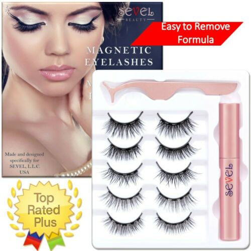 Magnetic Eyelashes With  Eyeliner Natural Look Reusable No Glue Waterproof