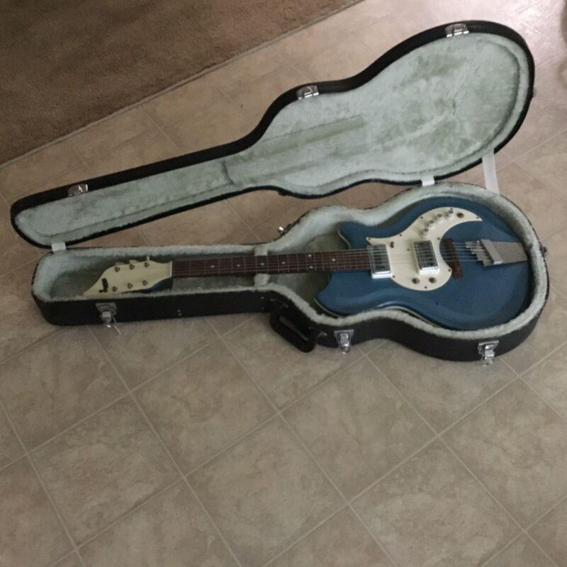 SUPRO TREMO-ELECTRIC 1965 BLUE RARE GUITAR