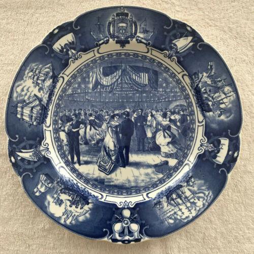 Rare Wedgwood U. S. Naval Academy Commemorative Plate - Naval Academy Hop 1869