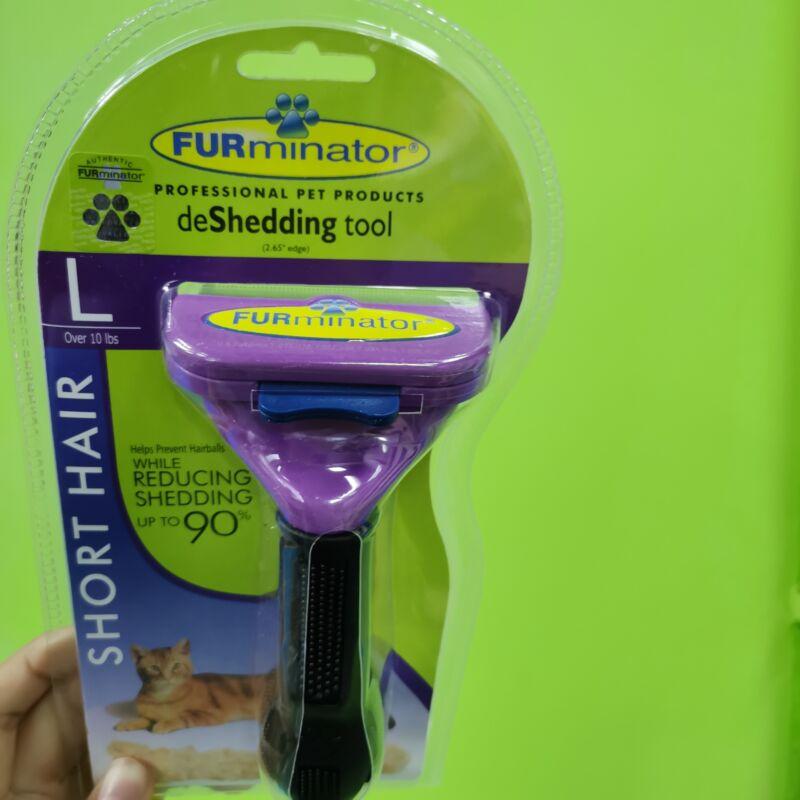 New!Furminator Shorthair DeShedding Tool for Large Cats,Free Shipping