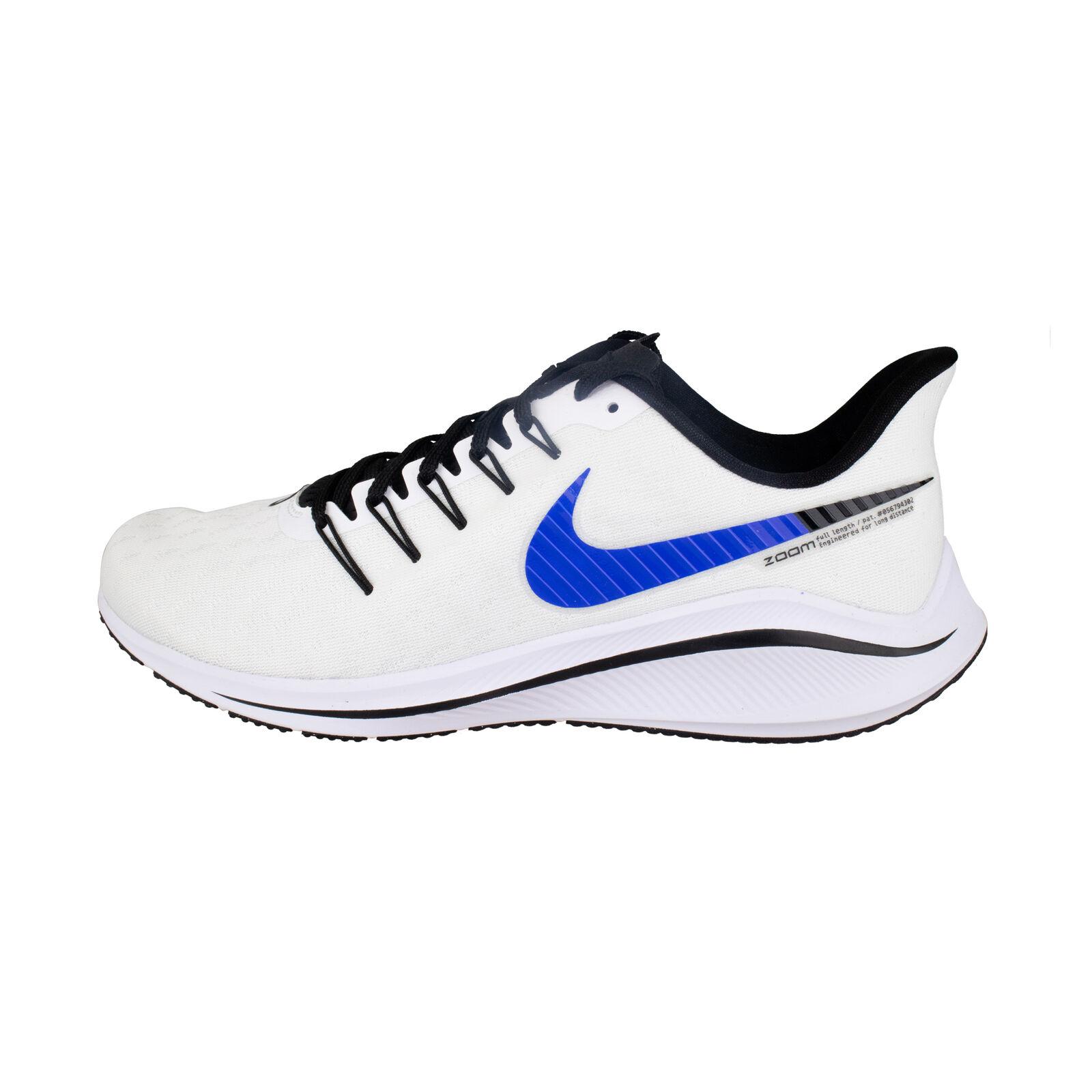 Dettagli su Nike Air Zoom vomero 14 BiancoBlu Uomo Neutral Scarpe da Corsa AH7857 101